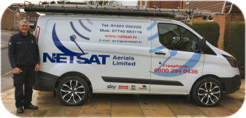 Photo of Netsat van